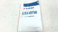 Suzuki GSX R 750 2006-2007 OWNERS MANUAL 2008